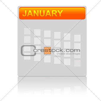 An orange calendar