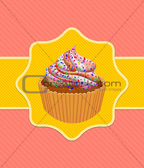 Card with cup cake