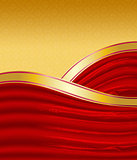 Gold and red background