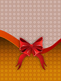 Holiday background with bow