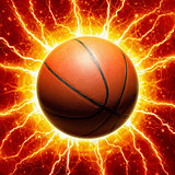 Glowing basketball