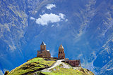 Church on high mountain