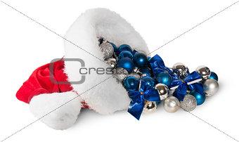Santa Claus Hat With Christmas Balls