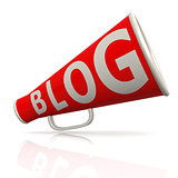 Blog red megaphone