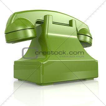Green isolated phone