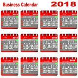 Business Calendar 2018.