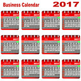 Business Calendar 2017.