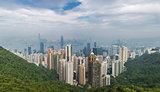 Hong Kong panoramic view from Victoria's peak