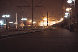 Railway station at the night  in Lviv,