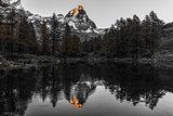 Sunset on the Matterhorn, Aosta Valley