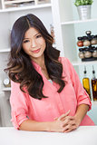 Asian Chinese Woman Girl in Kitchen