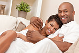 Happy African American Woman Romantic Couple