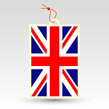 vector simple british price tag - symbol of made in united kingdom