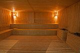 Large sauna in health spa