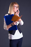 blond girl talking on the phone