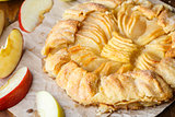 Homemade fresh apple galette