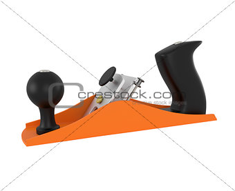 Carpenter tool wood planer isolated on white