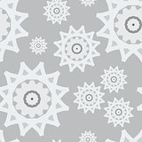 Seamless pattern white gray snow abstract new year