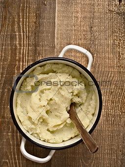 pot of rustic mash potato