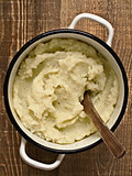 pot of rustic mash potato