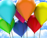 The colorful balloons