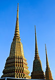 Authentic Thai Architecture (Pagoda ceramic decoration) in Wat P
