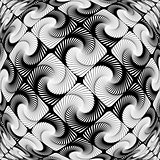 Design warped vortex movement geometric pattern