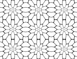 Design seamless monochrome polygon pattern