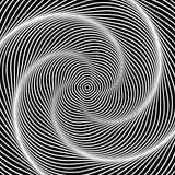 Design monochrome swirl illusion background