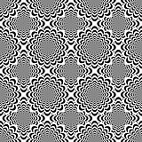 Design seamless monochrome spiral pattern