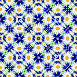 Design seamless colorful flower pattern