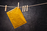 Envelope on clothes rope
