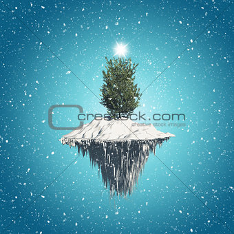 Floating Christmas tree island