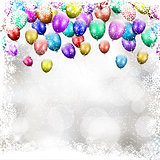 Christmas balloon background