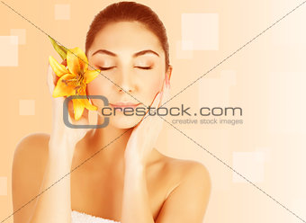 Attractive female in spa salon