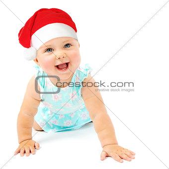 Little baby girl Santa