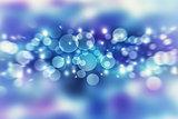 Blue blur bokeh background