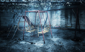 Old rusted playground