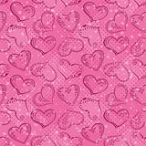 Seamless background, Valentine hearts