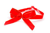 red and golden ribbon bow