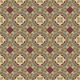 Seamless vintage ornamental tile set