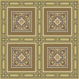 Vintage ornamental tile set square with border