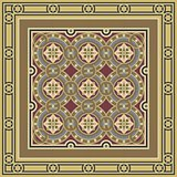 Vintage ornamental tile set with border
