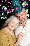 Senior Couple New Years Fireworks