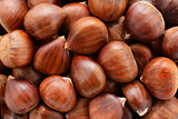 Sweet chestnuts background