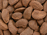 Brazil nuts background