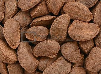 Brazil nuts background