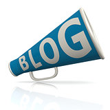 Blog blue megaphone