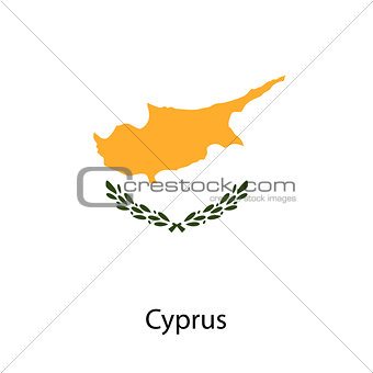 Flag  of the country  cyprus. Vector illustration.