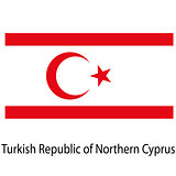 Flag  of the country  turkish republic of northern cyprus. Vecto